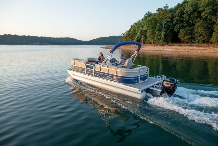 New 20' pontoon rental.